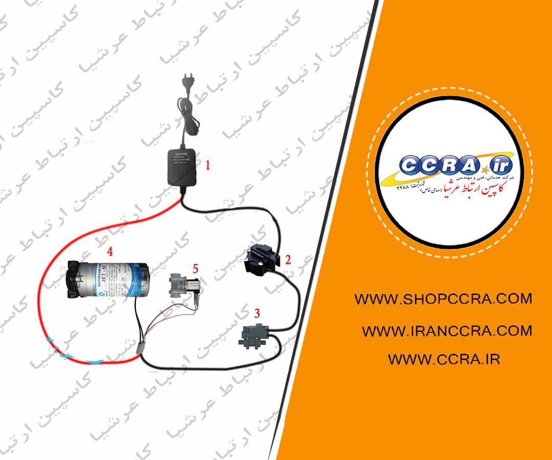 مدار برقی دستگاه تصفیه آب خانگی شورلایف